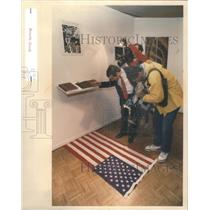 1989 Press Photo Tyler's Art Institution U.S.Flag - RSC58803
