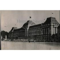 1919 Press Photo President Wilson Belgium Royal Palace - RRX79461