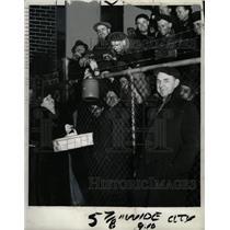 1936 Press Photo Strikers Miloland Steel corp workers - RRW94665