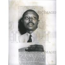 1951 Press Photo Kermit Parker first Negro candidate - RSC96985