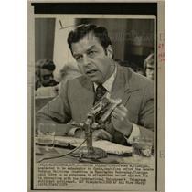 1974 Press Photo Peter M. Flanigan Ambassador Spain - RRW08677