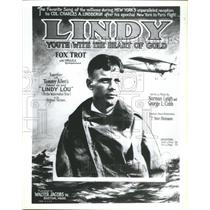 1987 Press Photo Charles Lindbergh Aviator Author Pilot