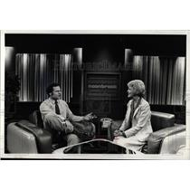 1980 Press Photo Philip broadcaster Johny Morris McClug - RRW87023