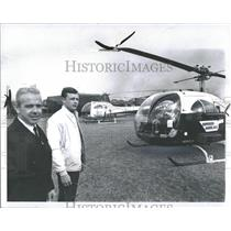1969 Press Photo Barney & Dale, Helicopter Pilots.