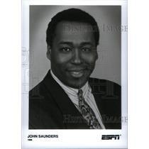 1996 Press Photo John Saunders ESPN - RRX40249