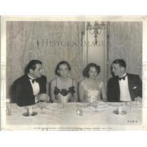1934 Press Photo Paramount Studio Emanuel Cohen Enzo Fiermonte Adela Rogers John
