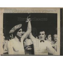 1971 Press Photo Argentina Georgia Goyo Feralta Spain Basque heavyweight Boxer