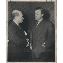 1950 Press Photo WALTER REUTHER AMERICAN LABOR UNION LEADER JOHN BLACKBURN