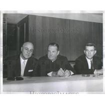 Press Photo Hon Alfred J. Cilella, Rev Ralph Gallagher, And Charles Livermore