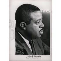 1968 Press Photo Ralph David Abernathy Civil Leader - RRW80073