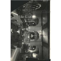 Press Photo Library Books Tables Chair Lights Arrange - RRX94471
