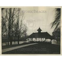 1923 Press Photo Soldiers Home Danville City Boat House - RRR90295