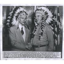 1954 Press Photo Herbert Philbrick Undercover Agent For FBI Accepted Certificate