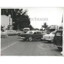 1955 Press Photo Parallel Parking on City Street