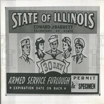1945 Press Photo GI Temporary Motor Vehicle License