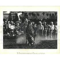 1986 Press Photo Roping Fiesta Rodeo At San Angelo, TX