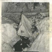 1956 Press Photo John Spencer Snow Slide Burke Canyon