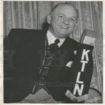 1958 Press Photo Denver KTLN Disc Jockey Joe Flood