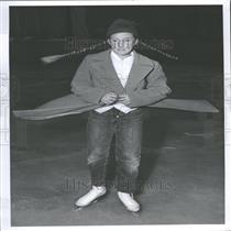1955 Press Photo Ann Hodges At Country Club Ice Rink