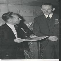 1940 Press Photo Norman Clements & William Enyart