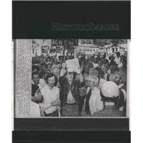 1970 Press Photo Sandy Ortiz Protests Vietnam War