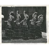 1941 Press Photo Carmen Opera Castanets Dress Rehearsal