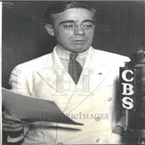 1934 Press Photo Francis Gorman Textile Worker Advocate