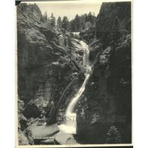 1925 Press Photo Seven Falls Colorado Springs Waterfall - RRY40801