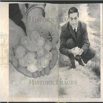 1962 Press Photo Hail Thunderstorm Sturgoen Bay