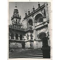 1978 Press Photo Cathedral Santiago Del Compostela