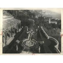 1931 Press Photo Italian Garden At Villa L' Acrotere