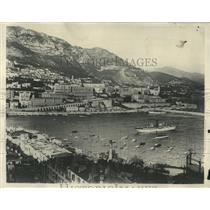 1929 Press Photo Monaco Harbor with Monte Carlo - RRY50041