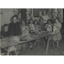 1933 Press Photo children I. Rude Community Center show