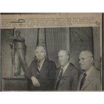 1975 Press Photo Donald Clark American National Hockey League Executive Chicago