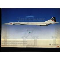 1987 Press Photo A Supersonic Concorde Airplane - RRW56919