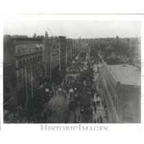 1998 Copy of Press Photo Denver Demonstration Crowd