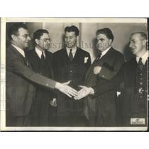 1937 Press Photo Sidney Hillman Homer Martin Lee Pressman John Lewis John Broshy
