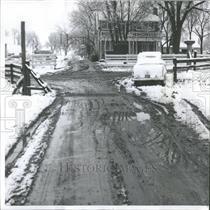 1958 Press Photo Snow Slush Bloody Trail Friday David