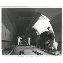 Press Photo Pan Am Airways Cargo Hold View - RRW52095