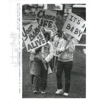 1937 Press Photo DEMONSTRATION  ABORTION