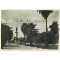 1932 Press Photo Galveston Palm Trees Oleanders Bloom