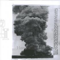 1963 Press Photo Underwater power erupts Smoke Clouds