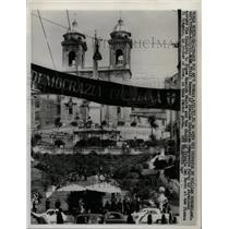 1963 Press Photo Banner of Italian Democratic Party - RRX70961