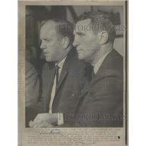 1968 Press Photo DETROIT RED WINGS PRESIDENT BRUCE A. NORRIS BILL GADSBY