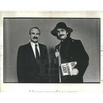 1980 Press Photo Father Guido Sarducci C Gordon Livvy SNL Sketch - RSC76959