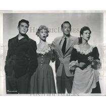 1949 Press Photo Hayes Gordon, Susan Johnson, Peter Turgeon, & Virginia Oswald