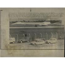 1969 Press Photo A Supersonic Concorde Airliner - RRW56905