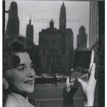 1961 Press Photo RCA Future Portable Color Television