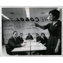 1961 Press Photo CALCULATIONS IBM PROGRAMMERS COBOL - RRW89279