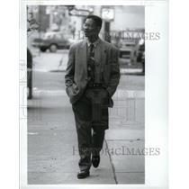 1992 Press Photo Detroit Police Lt. Barnette Jones - RRW94163